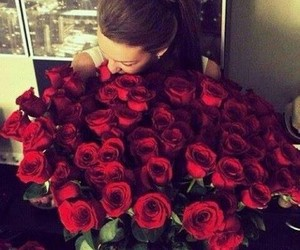aww, happy, and red roses image