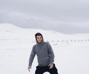 boy, insta, and snow image
