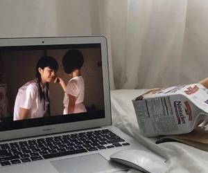 aesthetic, korean instagram, and laptop image