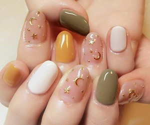 nails, stars, and moon image
