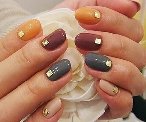 nails, nail art, and autumn image