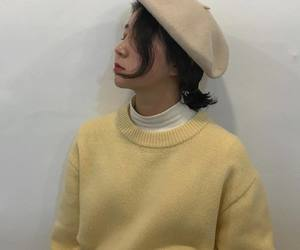 beret, ootd, and clothes image