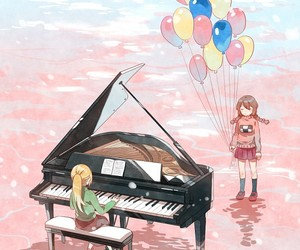 game, piano, and rosa image