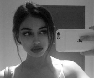 black, grey, and lips image