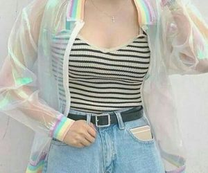 fashion, rainbow, and clothes image
