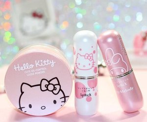 hello kitty, aesthetic, and makeup image