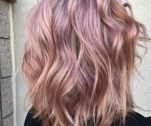 colored hair, hair style, and pink image