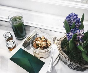 dining, green, and place setting image