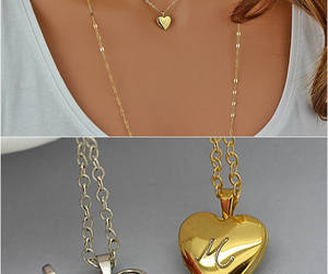 etsy, locket necklace, and goldnecklace image