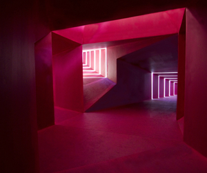 architecture, pink, and light image