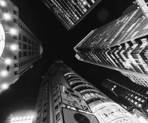 city, aesthetic, and black and white image