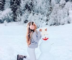 christmas, girl, and relax image