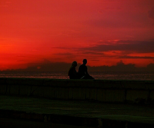 red, aesthetic, and couple image