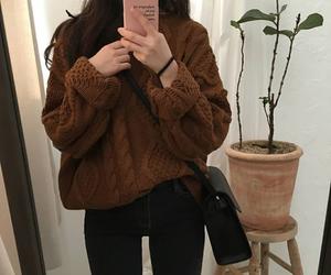 fashion, kfashion, and brown image