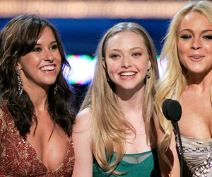 amanda seyfried, lindsay lohan, and mean girls image