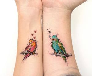 birds, tattoo, and ink image