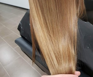 blonde, hairstyle, and hairstyling image