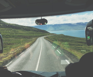 car, iceland, and trip image