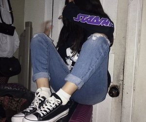 alternative, converse, and girl image
