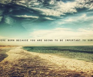 quote, beach, and important image