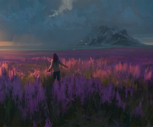 art, anime, and scenery image