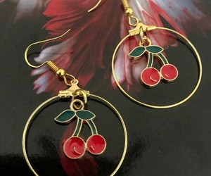 cherry, earrings, and jewelry image