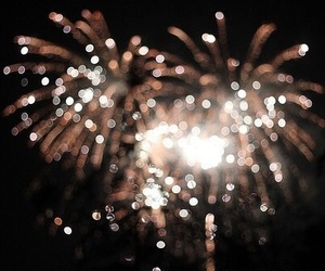 fireworks, light, and new year image