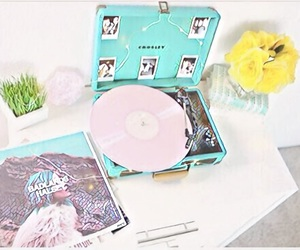 music, pastel, and pink image
