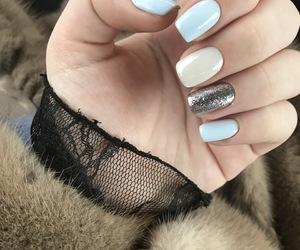 nails, ногти, and голубой image