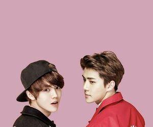 hunhan, exo, and luhan image