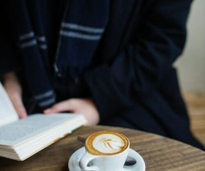 coffee, ravenclaw, and book image