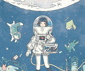 illustration, art, and space image