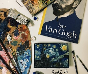 blue, vangogh, and oilpaint image
