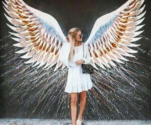 girl, fashion, and angel image