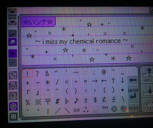 emo, pictochat, and mcr image