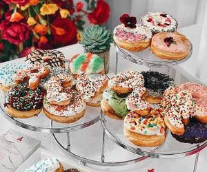 breakfast, donut, and donuts image