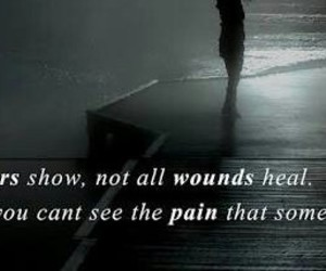 scars, mental, and pain image