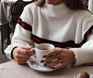 fashion, coffee, and winter image