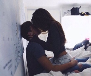 couple, kiss, and relax image