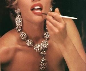 diamond, earrings, and expensive image