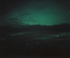 green, stars, and sky image