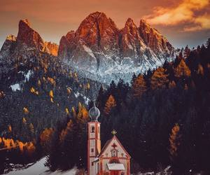landscape, mountain, and winter image