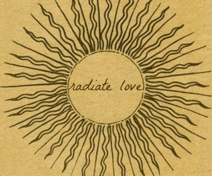 love, sun, and radiate image