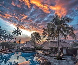 sunset, bali, and vacation image