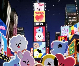 bt21, cooky, and shooky image