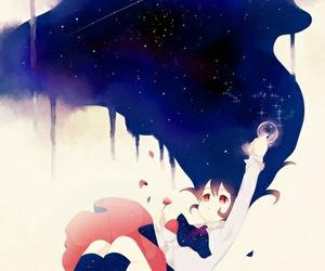 anime, moon, and ib image
