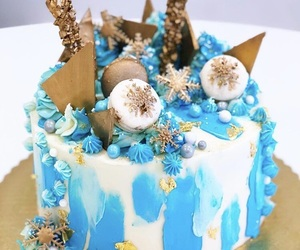 blue, cake, and candy image