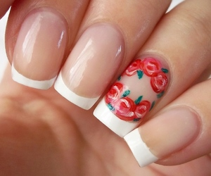 french, manicure, and nail art image