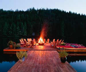 deck, dock, and fire image
