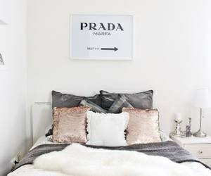 bedroom, decor, and Prada image